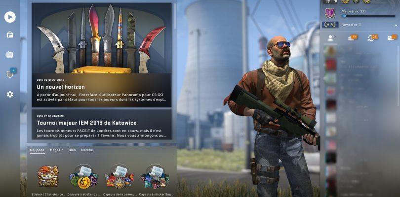 CS:GO : nouvelle UI et nouvelle caisse pour le célèbre jeu de Valve